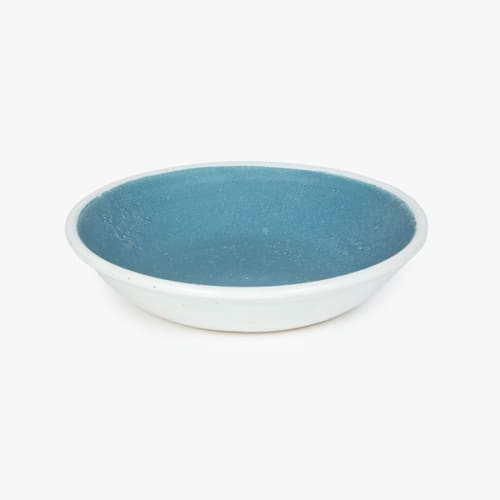 Ceramic Plates by Sunset Canyon Pottery seen at Private Residence, Austin - Teal Salad Plate