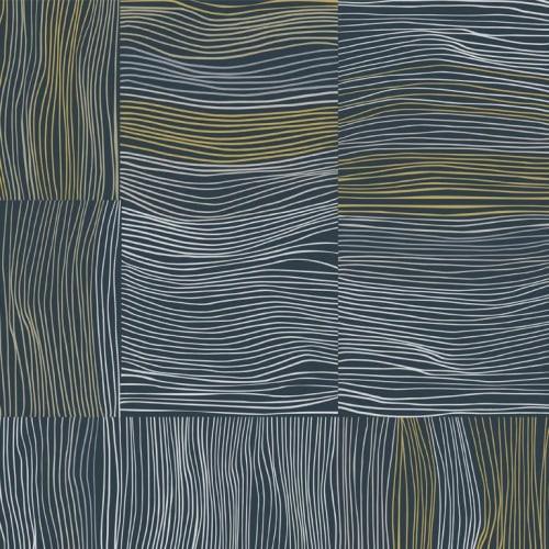 Wallpaper by Jill Malek Wallpaper - NEST in Gold Night