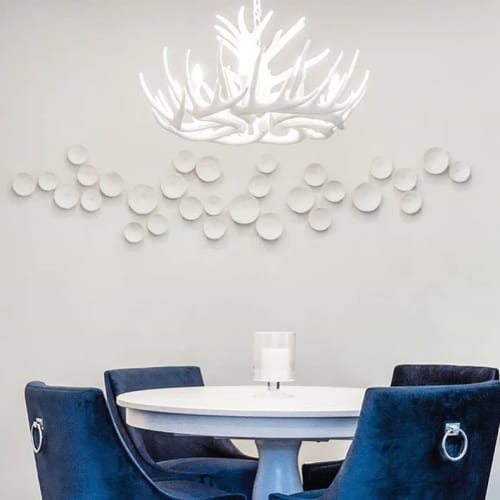 Art & Wall Decor by Elizabeth Prince Ceramics seen at Private Residence, San Francisco - Grace - Porcelain Wall Art