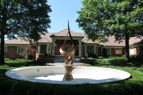 Public Sculptures by Medwedeff Forge and Design seen at Private Residence - Lieber Fountain