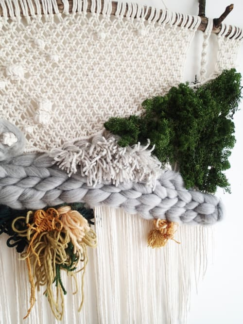 Macrame Wall Hanging by Mokosz dekoracje seen at Private Residence, Wrocław - Forest Tissue Macrame wall hanging