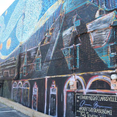 Clarksville's Starry Night | Street Murals by Olasubomi Bashorun
