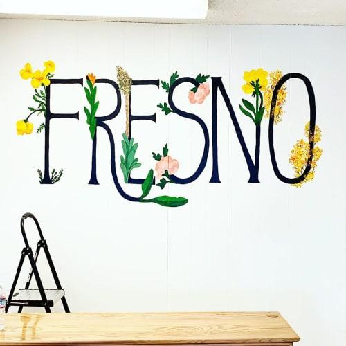 Murals by Art by Elowyn seen at Nichole Castech - State Farm Insurance Agent, Fresno - Fresno Floral design