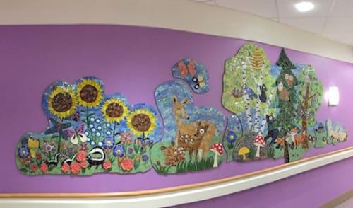 Public Mosaics by Cynthia Fisher seen at Boston Children's Hospital, Boston - Land Mosaic