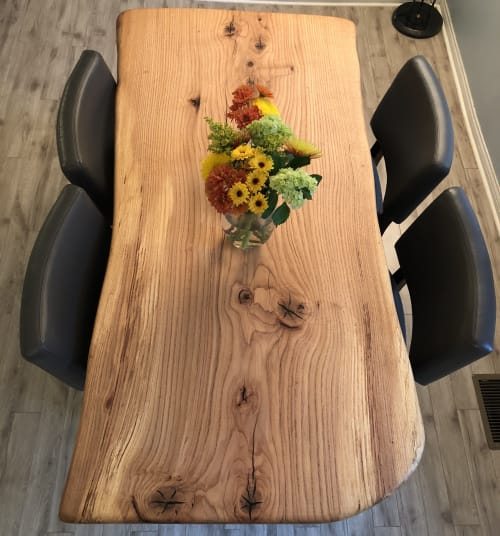 Tables by Urbn Timber seen at Private Residence, Columbus - Red Oak Kitchen Table