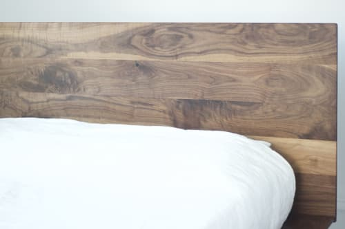 Beds & Accessories by Wolf Wood Co seen at Private Residence, Philadelphia - Walnut Bed Frame