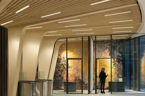 "Architecture by Claudy Jongstra seen at Triodos Bank Netherlands, Driebergen-Rijsenburg - ""Tribute to the Planets"" Project"