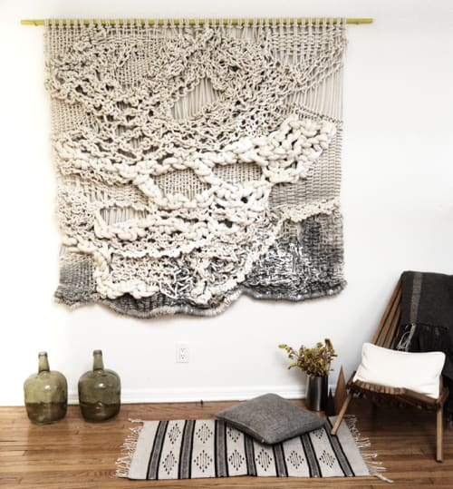Macrame Wall Hanging by Ranran Design by Belen Senra at Private Residence In Venice Beach, Los Angeles - Knotted Wall Art