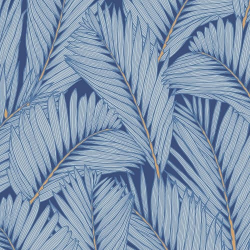 Wallpaper by Patricia Braune seen at Private Residence, Singapore - Island Frond Wallpaper