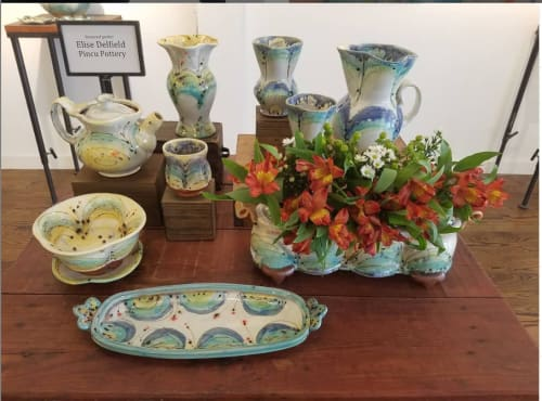 Floral Arrangements by Pincu Pottery seen at Lark & Key, Charlotte - Flower Bricks