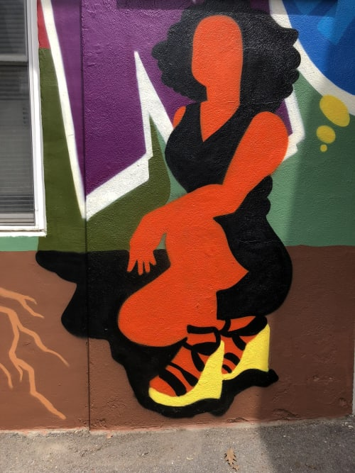 Murals by Sam Meyerson seen at Ithaca, Ithaca - Living Now Mural