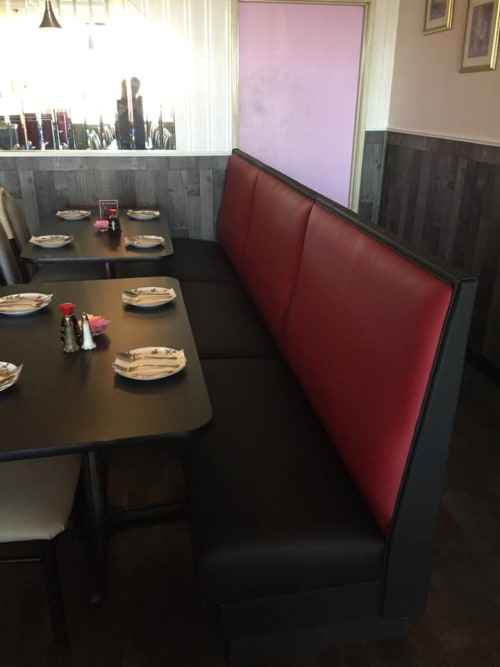 Couches & Sofas by Phillip Ramos Upholstery, Inc. seen at Egg Roll King, Aurora - Seating Upholstery
