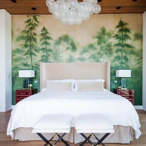 Wall Treatments by Caroline Lizarraga seen at Private Residence, Tiburon - Trees