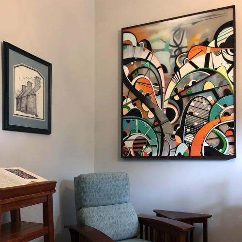 Paintings by Phil Harris at Private Residence, Atlanta - Battles