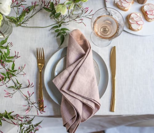 Linens & Bedding by Rough Linen seen at Private Residence, San Rafael - Linen Napkins