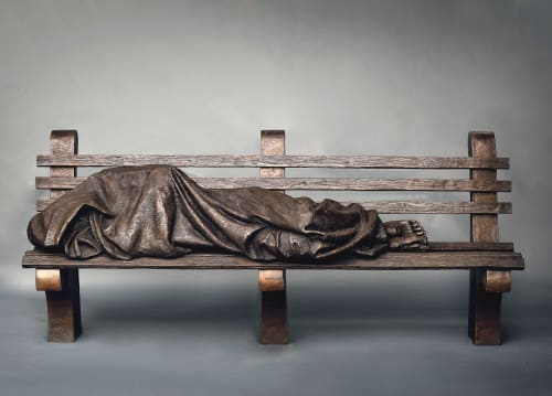 Sculptures by Sculpture By Timothy P. Schmalz Inc. seen at New York, New York - Homeless Jesus