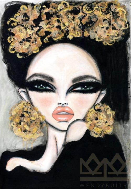 Paintings by Wendy Buiter seen at Private Residence, Rotterdam - Opulence