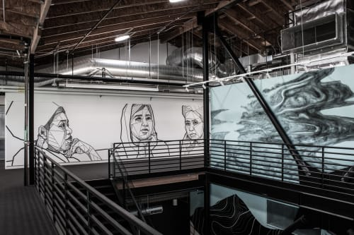 Murals by Allison Kunath at RYOT News, Los Angeles - She Can