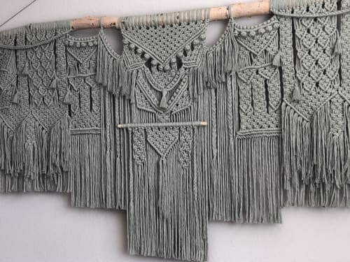 Macrame Wall Hanging by Amafiberart seen at Private Residence - Sage wall hanging
