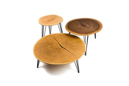 Tables by Mark Oliver seen at Private Residence, Brussels - Klyde coffee table set
