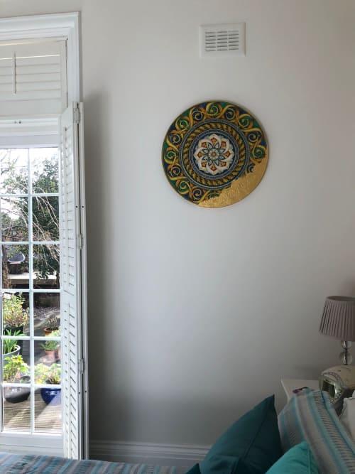 Paintings by Salvatore Battaglia seen at Private Residence, London - Rotondo Multicolore