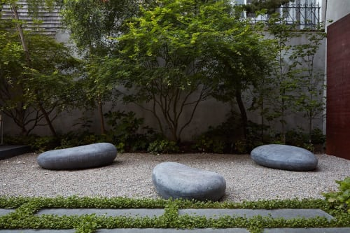Benches & Ottomans by Concreteworks seen at Private Residence, San Francisco - SoMA Stones