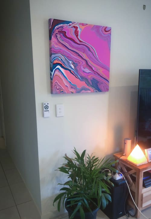 Paintings by Resin_at_lucys seen at Private Residence, Brisbane - Pastel Nights
