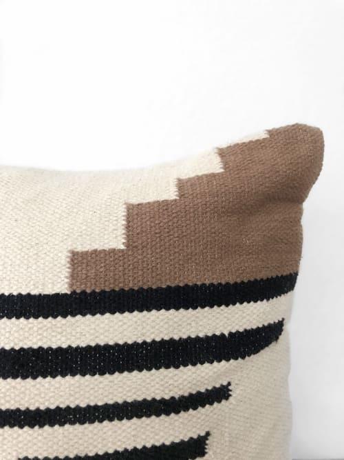 Pillows by Coastal Boho Studio seen at Creator's Studio, Frisco - Navarre Handwoven Pillow Cover - Sunset