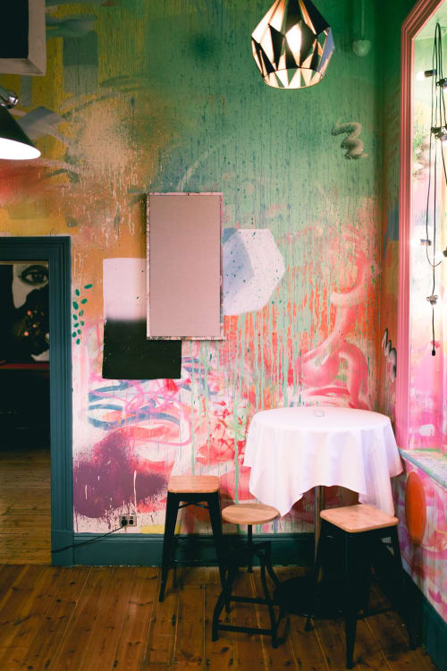 Murals by Dave Court seen at The Oxford Hotel, North Adelaide - Poolroom all-over painting