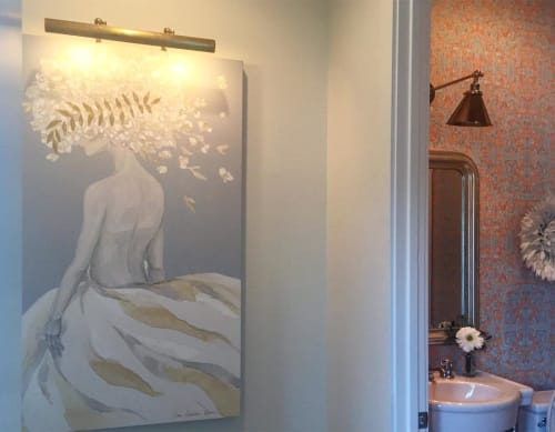 Paintings by Zana Brown Studio seen at Private Residence, Baton Rouge - Flowerhead