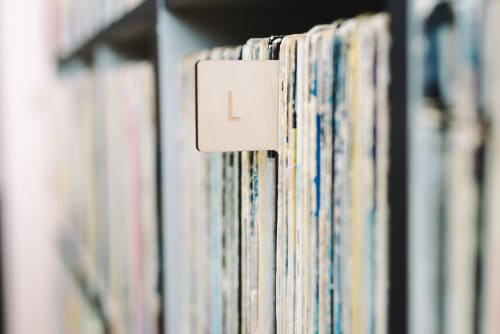 Interior Design by Koeppel Design seen at KEXP, Seattle - Record Collection at KEXP