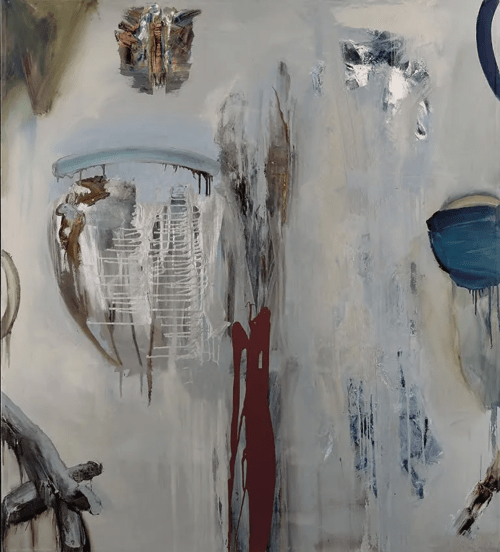 Paintings by John DiPaolo seen at Greentech Media, San Francisco - 11th Moon