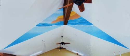 """Murals by Richard Stanley seen at Private Residence, Port Severn - """"Northern Escape"""""""