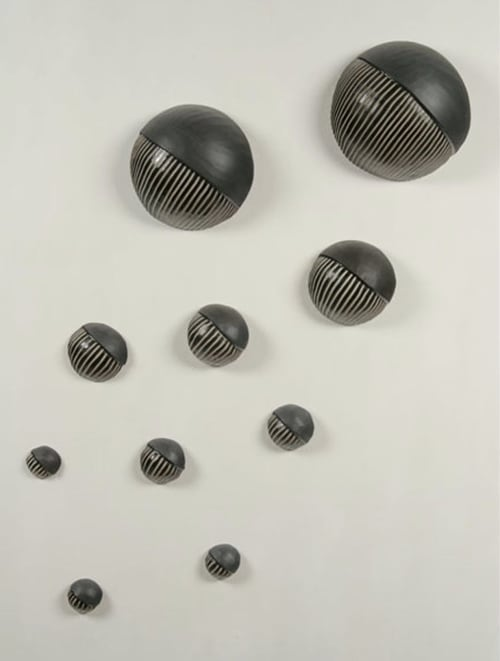 Sculptures by Larry Halvorsen seen at Private Residence, Seattle - Northwest Wall Balls