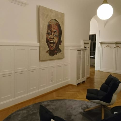 Wall Hangings by Kealeboga Tlalang seen at Private Residence, Berlin - Collage art