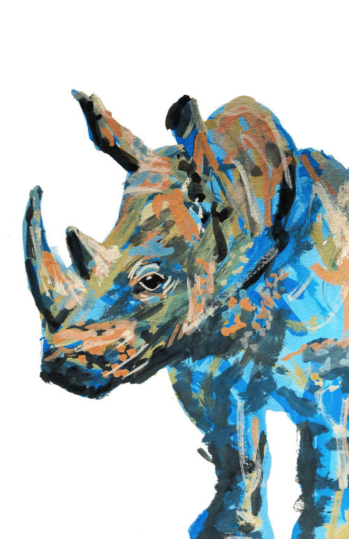 Paintings by Rachel Elizabeth Design seen at Private Residence, Chicago - Rhino
