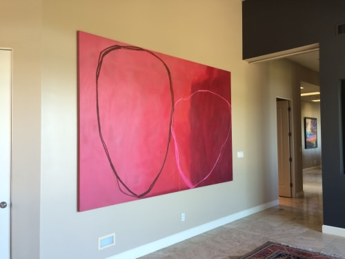 Paintings by Lynne Riding seen at Private Residence, Charleston - Tickled Pink