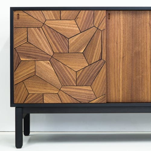 Furniture by Christopher Solar Design seen at Private Residence - Pentagon Sideboard