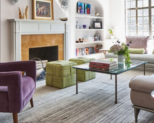 Chairs by Lucy Tupu Studiorcedes524 seen at Private Residence, New York - UES Apt-Flax Cubes
