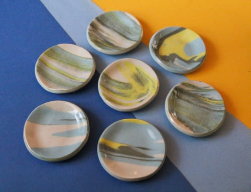 Ceramic Plates by MOBAK seen at Private Residence, Portland - Wavey Catch-all Dishes