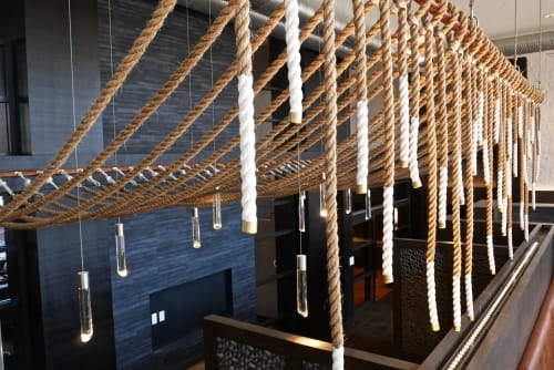 Sculptures by BroCoLoco seen at The Remy, New Carrollton - Hanging Rope Sculpture