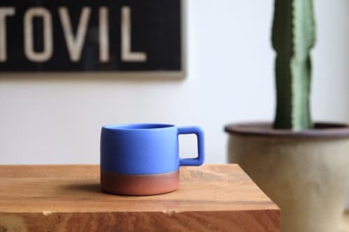 Cups by Sarah Wolf seen at Portland, Portland - Cerulean Blue Espresso Mug