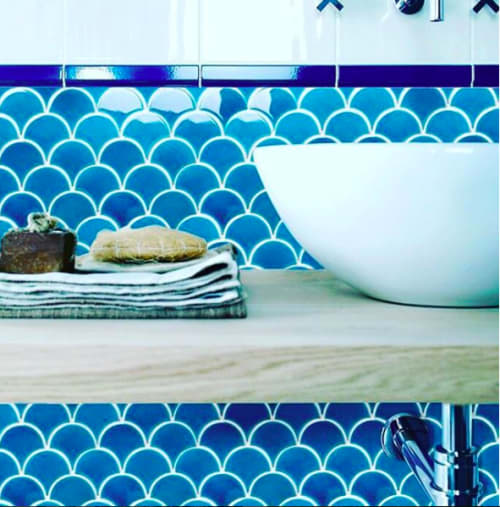 Tiles by Otto Tiles And Design seen at Private Residence, Istanbul - Mesmerising Fish Scales