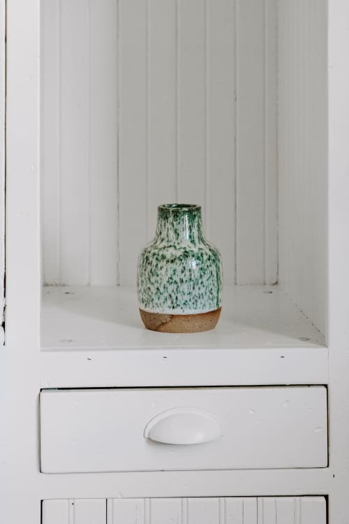 Art & Wall Decor by Love, Emma Ceramics seen at Private Residence, Denver - Carved Ceramic Vase