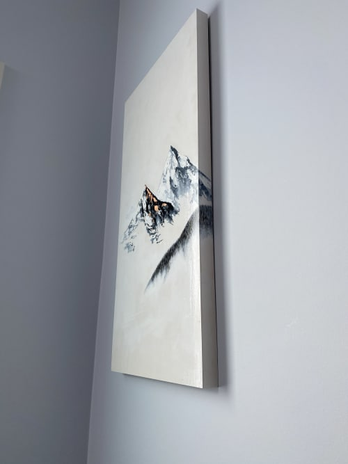 Paintings by Aimy Van der linden seen at Private Residence, Edmonton - Modern Landscape Painting