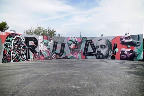 Street Murals by Third Rua seen at Festival Iminente, Lisboa - Pseudónimos