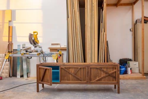 Furniture by Sergio Mannino Studio seen at Creator's Studio, Brooklyn - Inside-Out Largo Sideboard Cabinet Cerulean Blue