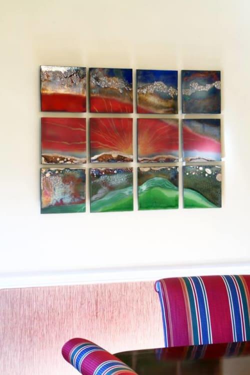 Art & Wall Decor by Steven Forbes-deSoule seen at Private Residence, Johnson City - Raku Wall Art