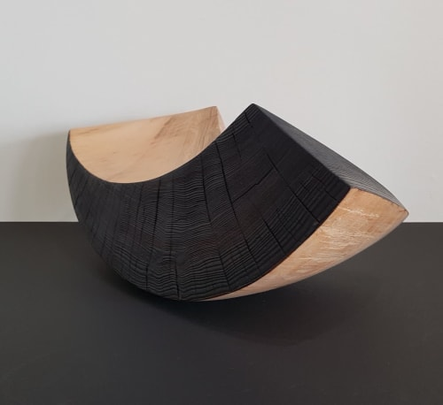 Sculptures by KATE HENDERSON seen at Private Residence - 'My Strong Side'  50 x 20 x 20cm