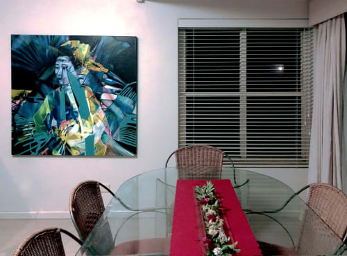 Paintings by Shan Richards seen at Private Residence, Sydney - Kaleidoscopic Kyoto: Maiko